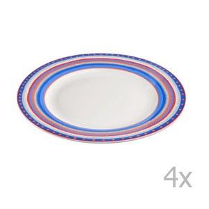 Komplet 4 talerzyków porcelanowych Oilily 22 cm, niebieski