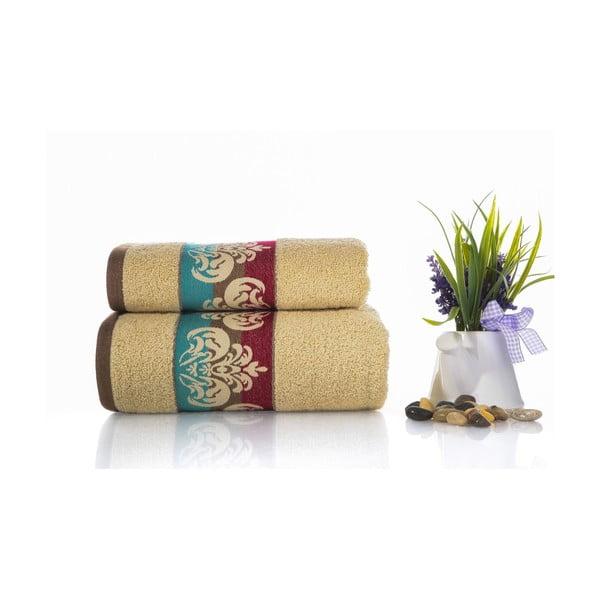 Zestaw 2 ręczników Noble V2, 50x90 cm + 70x140 cm