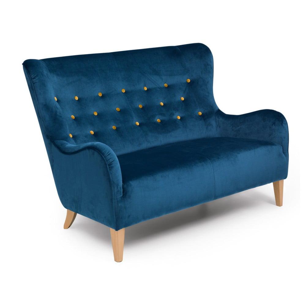 Niebieska sofa 2-osobowa Max Winzer Medina