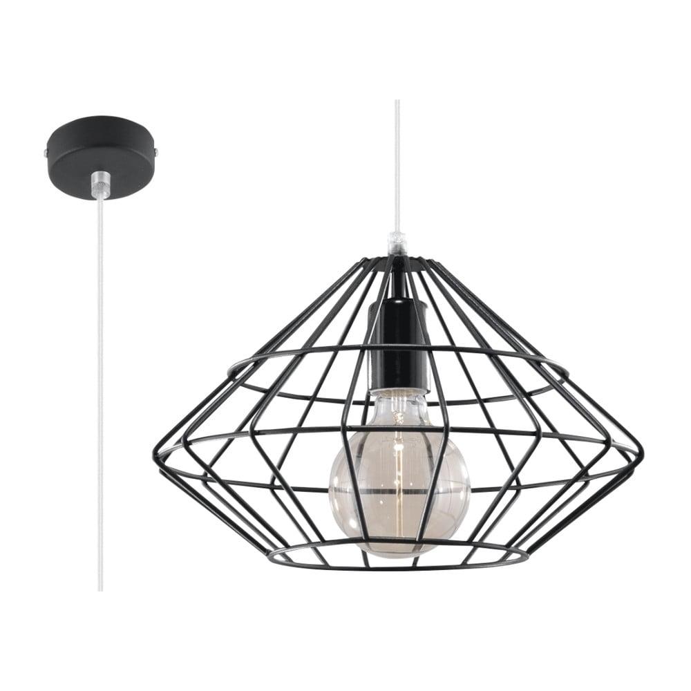 Czarna lampa wisząca Nice Lamps Editta