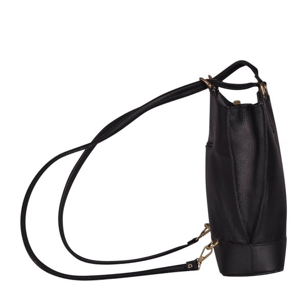 Skórzana torebka/batoh Jamie, czarna