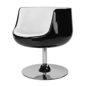 Krzesło obrotowe Cognac, czarne/białe