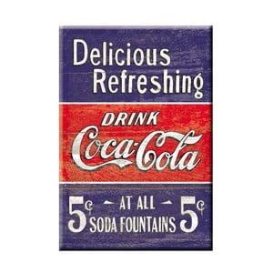 Blaszana tabliczka Delicious Refreshing, 30x40 cm