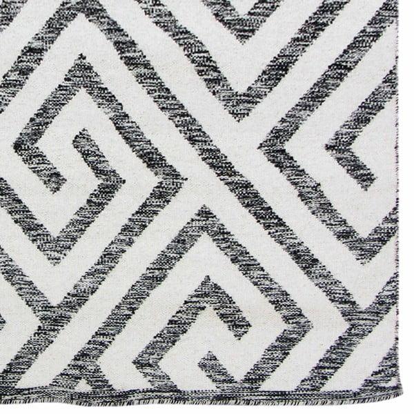 Ręcznie tkany dywan Kilim Design 69 Black/White, 100x150 cm