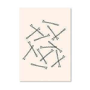 Plakat Americanflat Bobby Pins, 30x42 cm