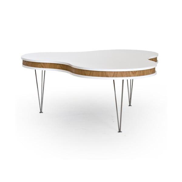 Biało-brązowy stolik RGE Hugo Clover