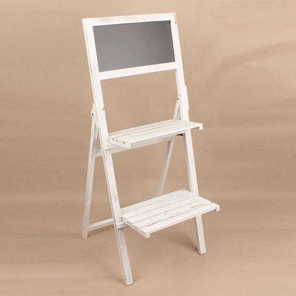 Drewniany stojak z tablicą Dakls, jasny