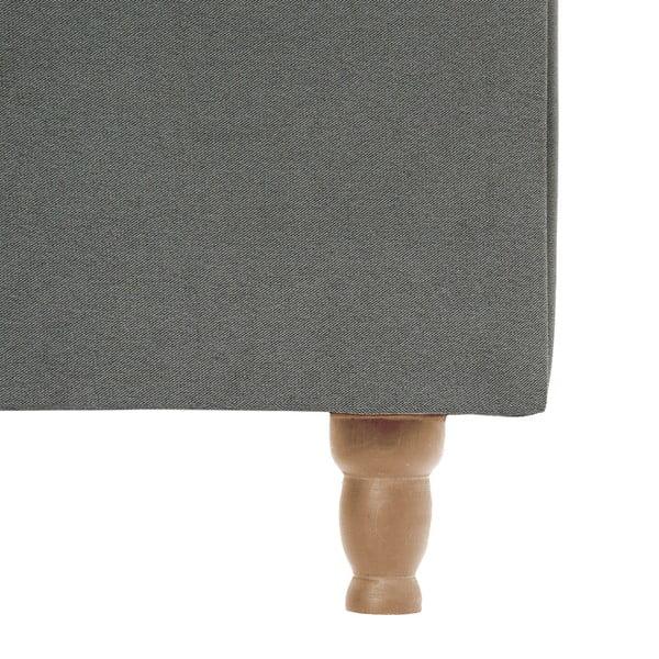 Jasnoszare łóżko z naturalnymi nóżkami Vivonita Allon, 180x200 cm