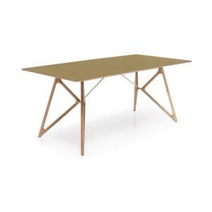 Stół dębowy do jadalni Tink Linoleum Gazzda, 180cm, oliwkowy