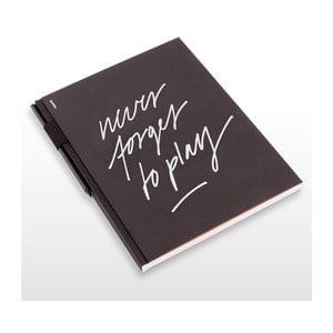 Szkicownik z ołówkiem Never Forget To Play, 21x29,7 cm