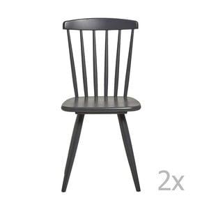 Zestaw 2 antracytowoszarych krzeseł do jadalni Marckeric Jade