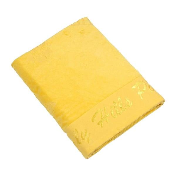 Ręcznik bawełniany BHPC Velvet 80x150 cm, żółty
