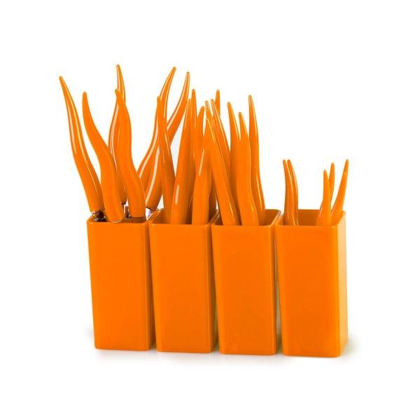 Zestaw sztućców Tullio Orange, 24 szt.