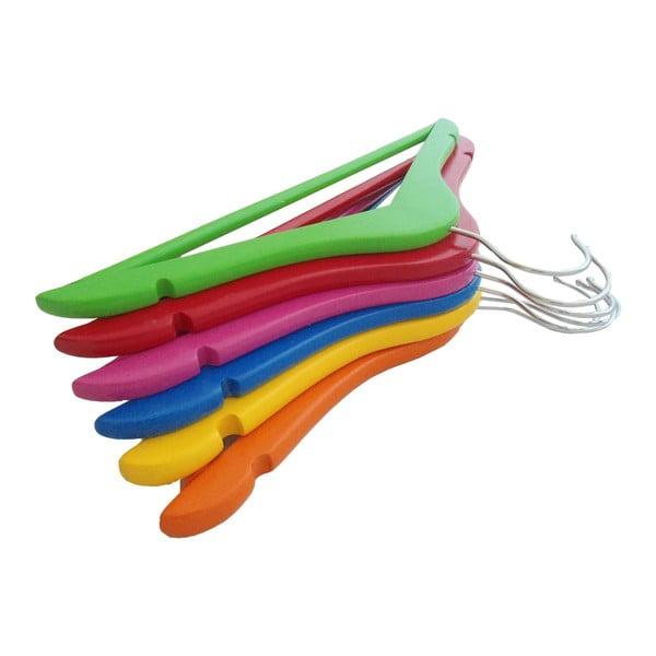 Zestaw 6 dziecięcych wieszaków Colorful Hangers