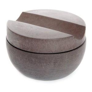 Betonowa miska do golenia z mydłem cedrowym, brązowa