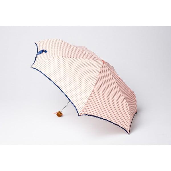 Składany parasol Vichy, pomarańczowy