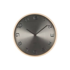Szary zegar Present Time Bent