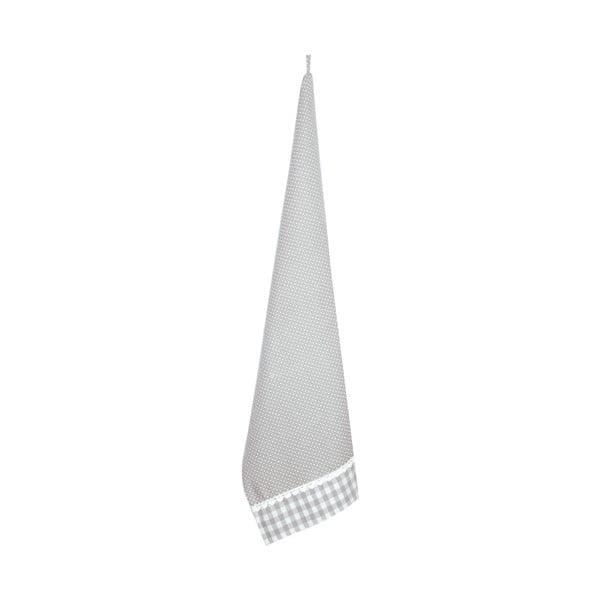 Ścierka Basic Hearts 50x85 cm, szara