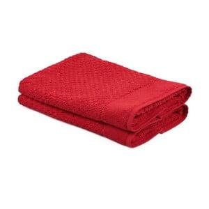 Zestaw 2 czerwonych ręczników Beverly Hills Polo Club Mosley, 50x80cm