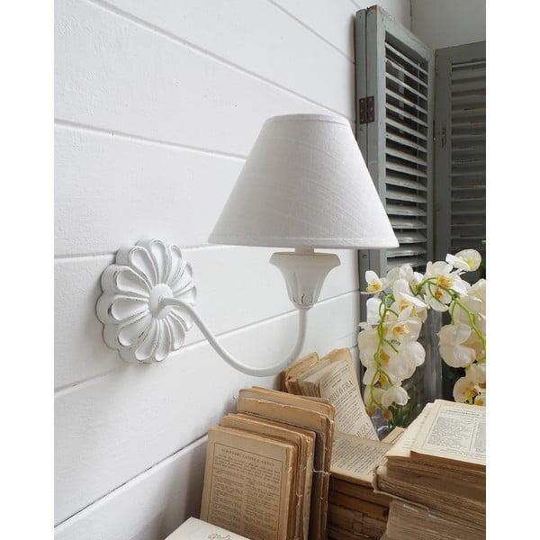 Kinkiet Flower White Antique