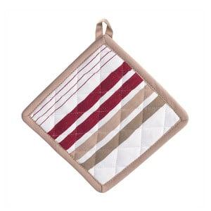 Łapka kuchenna Diego 20x20 cm czerwone prążki