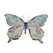Metalowy motyl na ścianę, 36 cm
