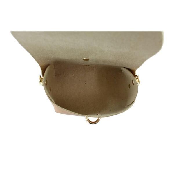 Karmelowa skórzana torebka Loira