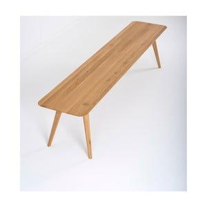 Ławka z litego drewna dębowego Gazzda Stafa, dł.200cm