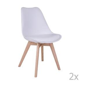 Zestaw 2 białych krzeseł House Nordic Molde