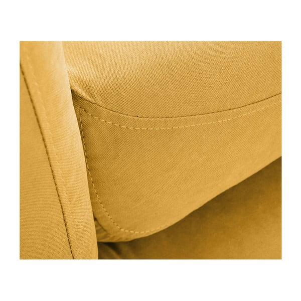 Żółta sofa 3-osobowa Scandi by Stella Cadente Maison