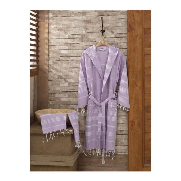 Zestaw szlafrok i ręcznik Sultan Lilac, rozmiar L/XL