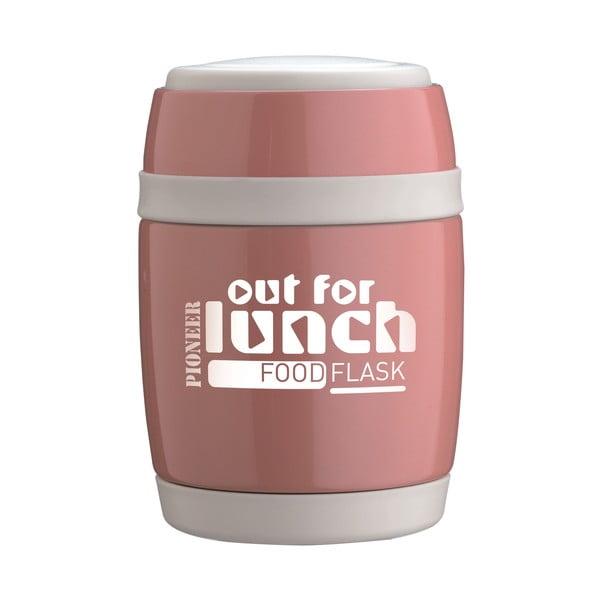Termos obiadowy z łyżką Pink Lunch, 580 ml