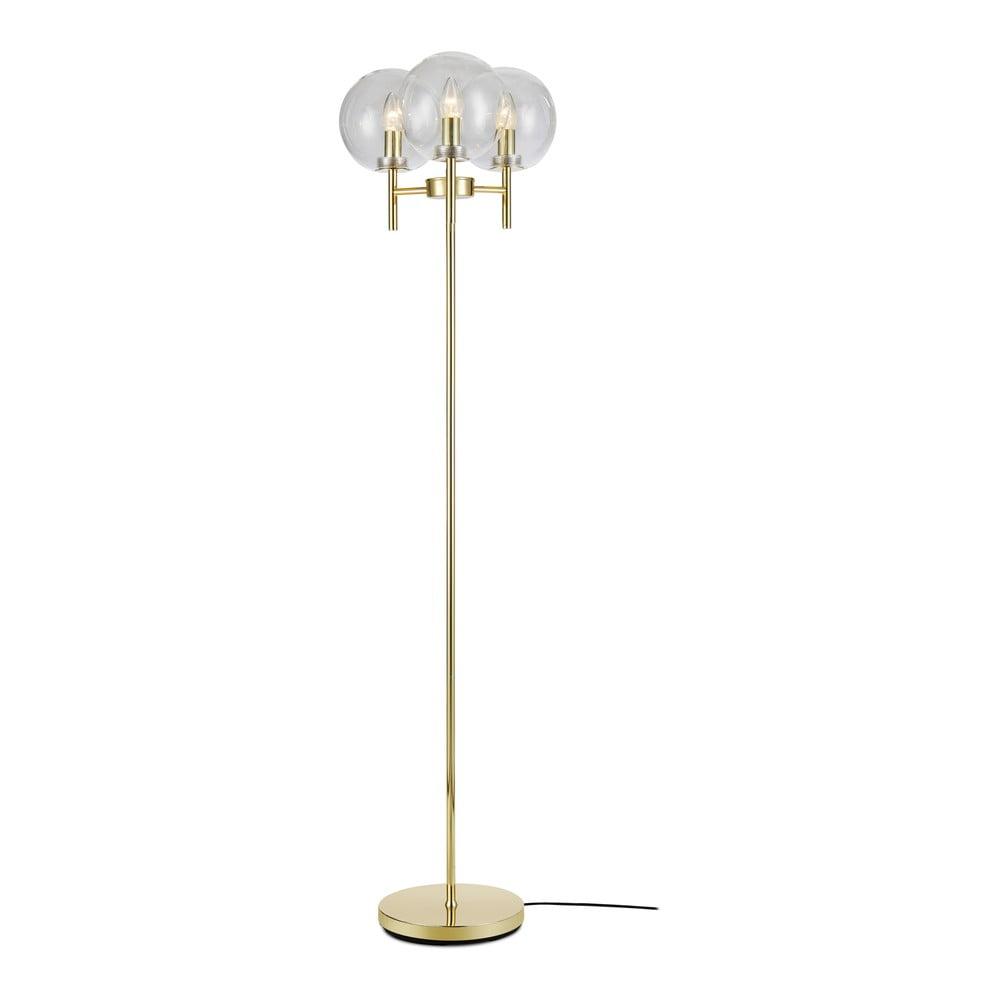 Lampa stojąca w kolorze złota Markslöjd Crown Floor 3L