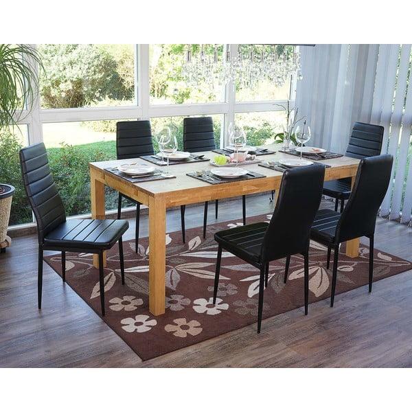 Komplet 2 czarnych krzeseł do jadalni Mendler Lamego