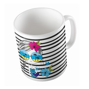 Kubek ceramiczny Beach Girl, 330 ml
