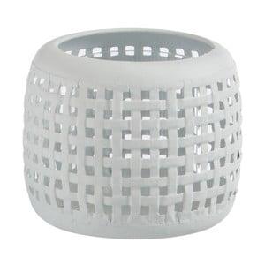 Biały świecznik J-Line Mimmi, wys.11cm