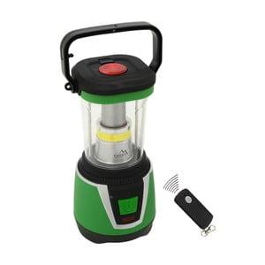 Zielona lampa kempingowa LED Cattara Camping Remote Control
