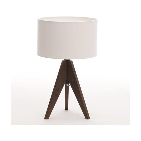 Lampa stołowa Artist Cylinder White/Dark Brown