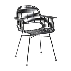 Czarne krzesło do jadalni Kare Design Ko Lipe