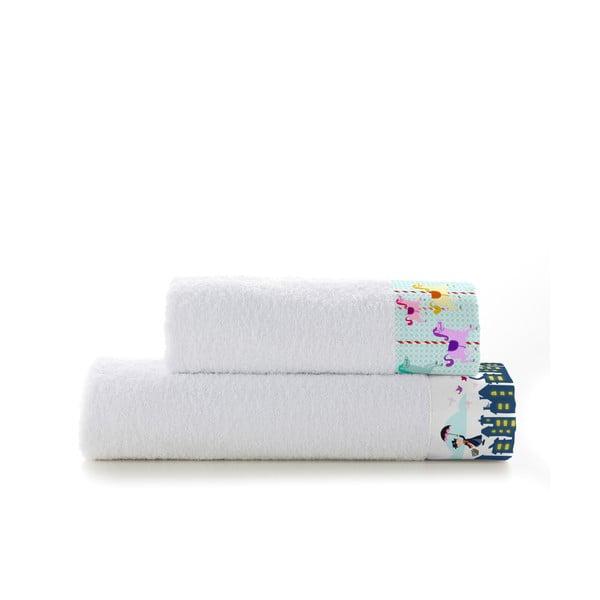 Zestaw 2 ręczników Mr. Fox Spit Spot, 50x100 cm i 70x140 cm