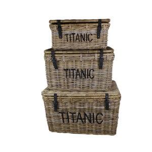Zestaw 3 koszy z rattanu koboo HSM Collection Titanic