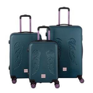 Zestaw 3 zielonych walizek Berenice Wingy