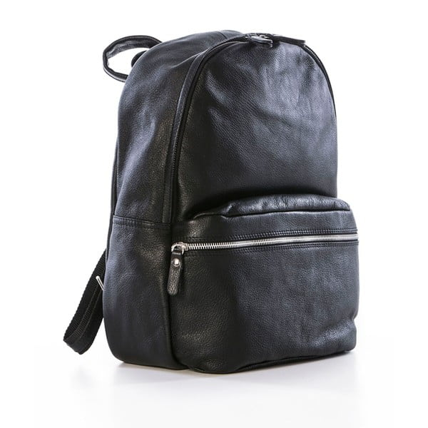 Czarnyskórzany plecak Federica Bassi Algol