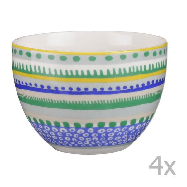 Komplet 4 miseczek porcelanowych Oilily 10 cm, zielony