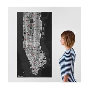 Czarna mapa ścienna Palomar Pin Nowy Jork