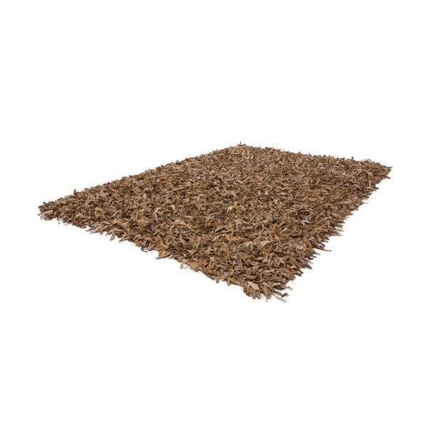 Skórzany dywan Rodeo 80x150 cm, beżowy