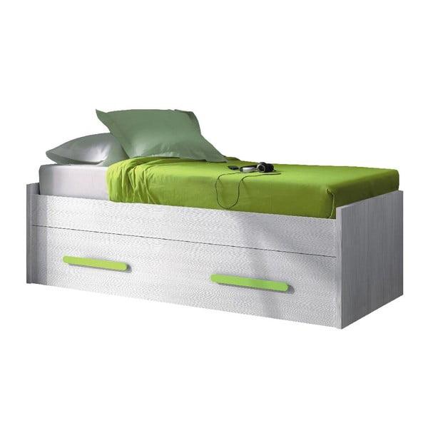 Łóżko Hugo Green, 59x201x98 cm