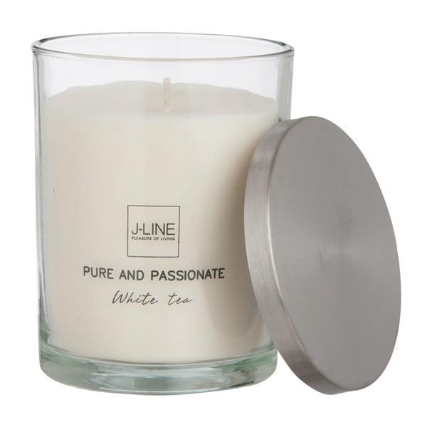 Świeczka zapachowa Scented Glass 10x10 cm, biała herbata