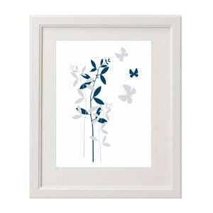 Obraz Flowers Blue A4