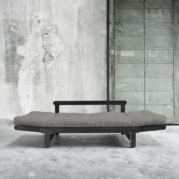 Sofa rozkładana Beat Black/Granite Grey